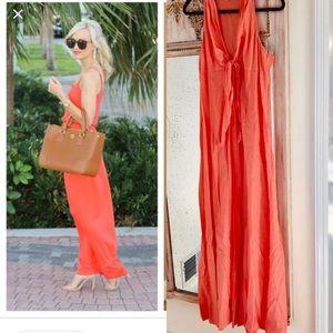 J.Crew orange chambray maxi dress size large